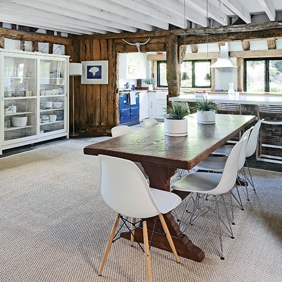 Pale Grey Country Kitchen