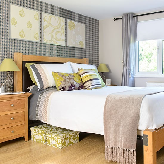 Lime Green And Grey Bedroom