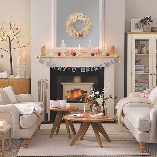 Cream Christmas living room | Decorating | housetohome.co.uk