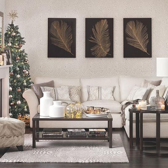 Home Decorating Co Com: Neutral Christmas Living Room