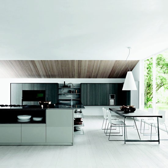 Family Kitchen Design Ideas For Cooking And Entertaining: Contemporary Family Kitchen With Social Dining Area