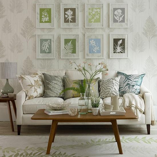 Home Decorating Co Com: Living Room With Botanical Prints