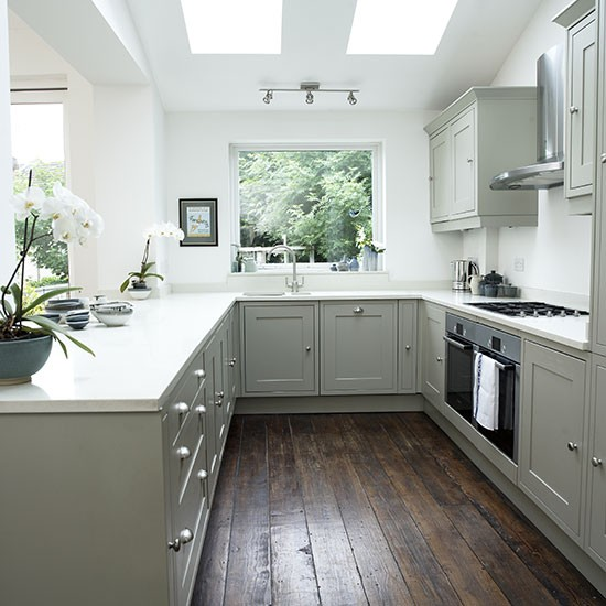 Grey Kitchen Ideas That Are Sophisticated And Stylish: White Shaker-style Kitchen With Grey Units