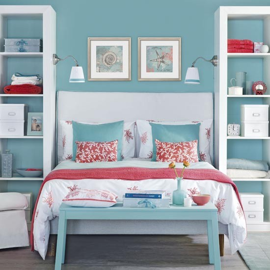 Ocean Blue Bedroom Wall