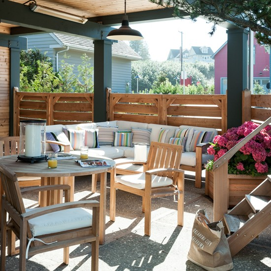 Summer Garden With Sheltered Outdoor Seating
