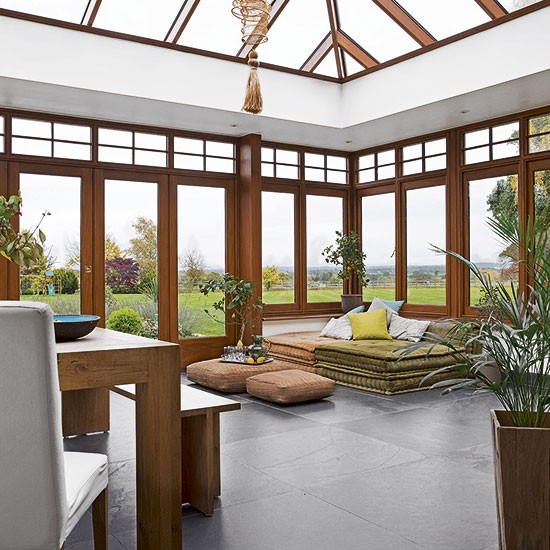 Spacious Conservatory With Slate Flooring