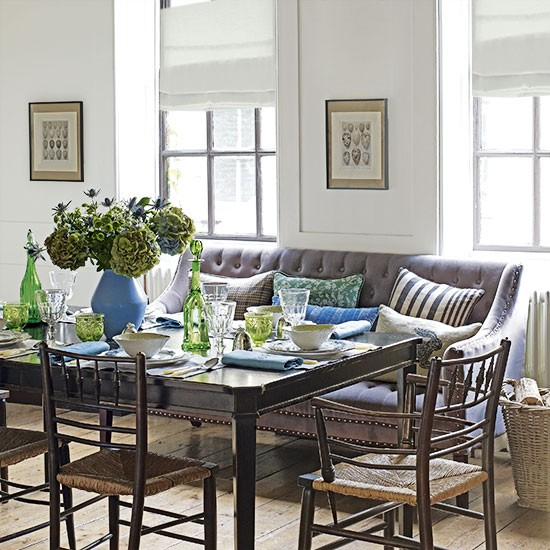 Dining Room Loveseat: White Dining Room With Sofa