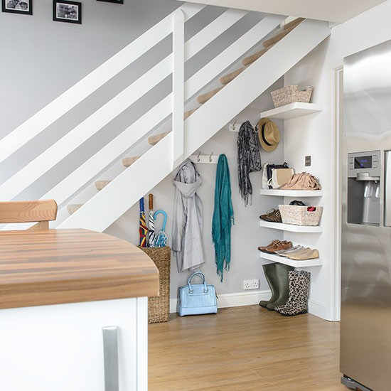 60 Under Stairs Storage Ideas For Small Spaces Making Your: Hallway With Understairs Storage
