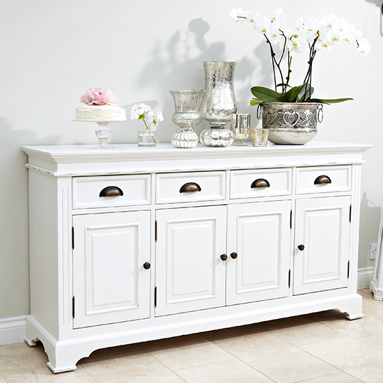 Dining Idea Room Storage: Traditional White Dining Room Sideboard