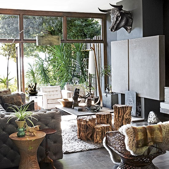 Jungle Themed Living Room Open Plan Living Room Ideas To