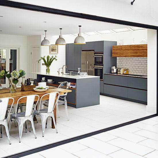 Modern Kitchen Ideas With White Cabinets: Modern Grey Kitchen