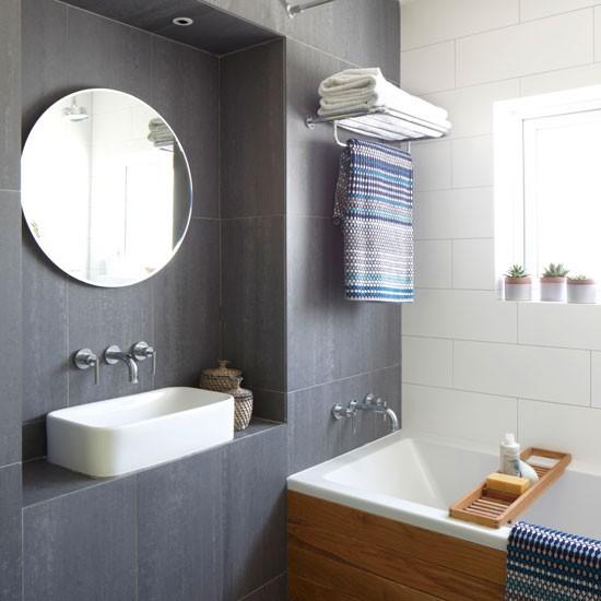 Hotel Bathroom Layout: Urban Bathroom With Space-saving Tricks