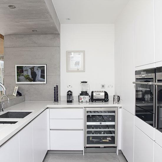 Modern Kitchen Ideas With White Cabinets: Whiet Modern Kitchen