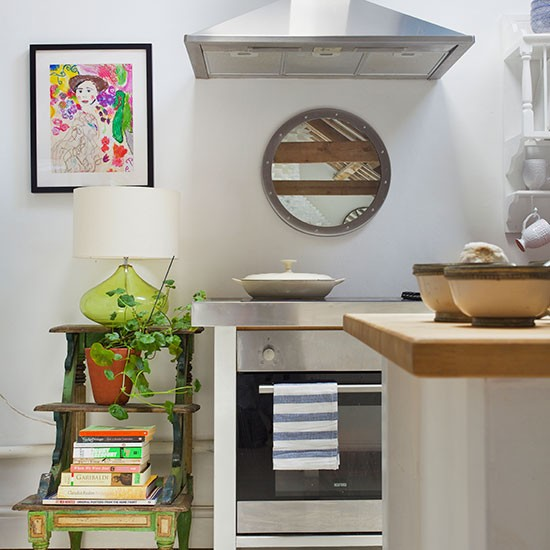 Small Kitchen Design Ideas Uk: White Compact Kitchen With Display
