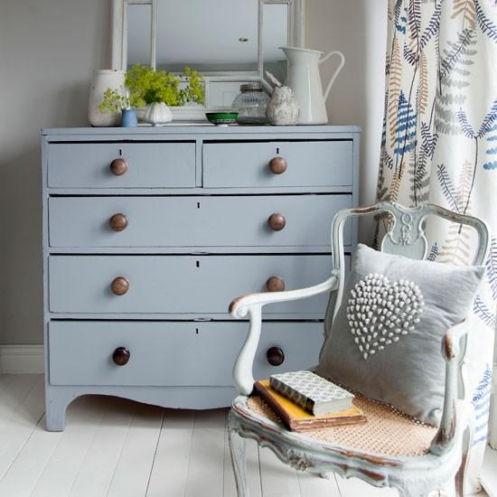 Soft Blue Bedroom Drawers