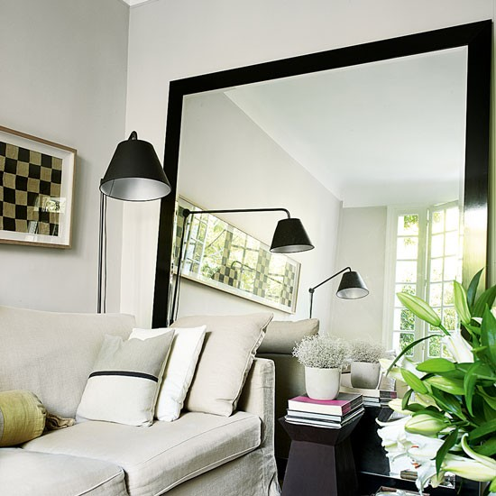 Mirror Room: Living Room With Oversized Mirror