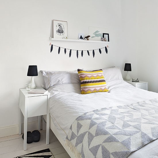 8 Clever Small Living Room Ideas With Scandi Style: White Scandi Bedroom