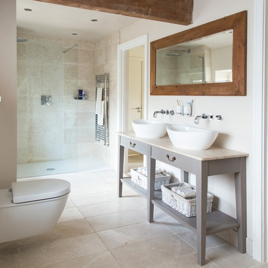 Modern French Bathroom: Nice CountryTouches In Modern Bathroom And Kitchen