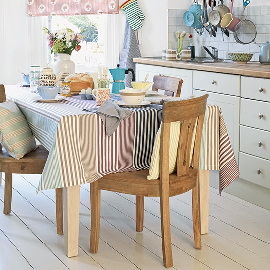 Country kitchen with painted floorboards | Kitchen ...