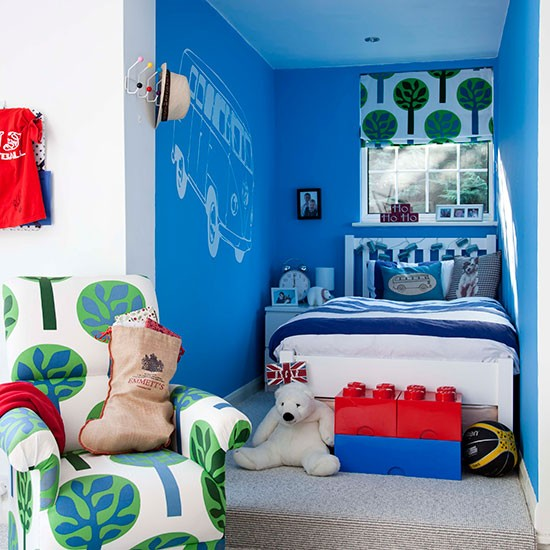 Little Boy Room Design Ideas: Boys' Bedroom With Co-ordinating Soft Furnishings
