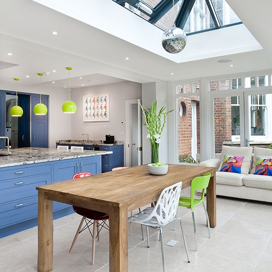 Fun And Contemporary Kitchen With Skylight