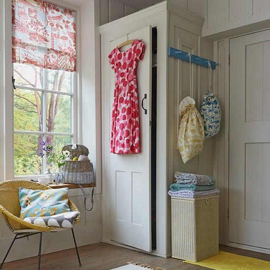 Grey Painted Bedroom Cupboard