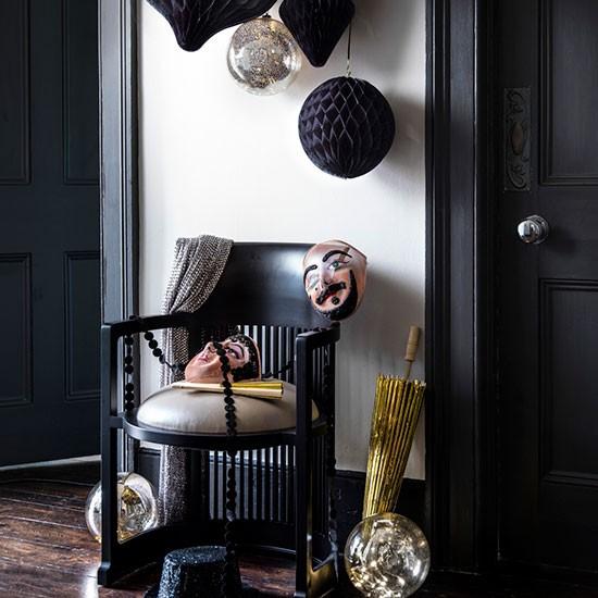 Dramatic monochrome Christmas hallway | Modern Christmas ...