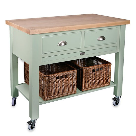 Kitchen Trolley Butcher Block : Baydon 2 drawer kitchen trolley from Store Butcher?s Blocks housetohome.co.uk