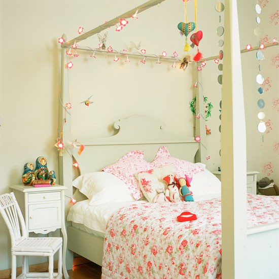 73 Best Children S Bedroom Ideas Images On Pinterest: White Teenage Girl's Bedroom With Painted Four Poster Bed