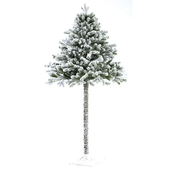 Half Christmas Tree With Snow From Homebase