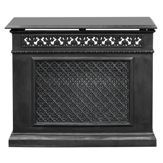 Single panel cast iron radiator cover from period house - Cast iron radiator covers ...