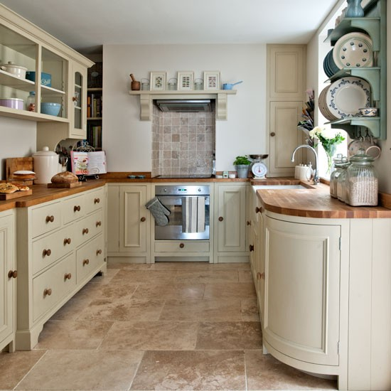 Neutral Kitchen With Feature Plate Rack Step Inside This