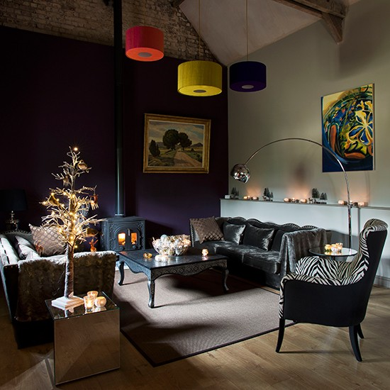 Modern Living Room Lighting Ideas: Contemporary Christmas Living Room Ideas