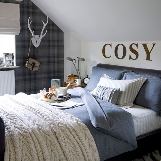 Cosy Bedroom Ideas For A Restful Retreat: Cosy Bedroom Retreat With A Masculine Feel