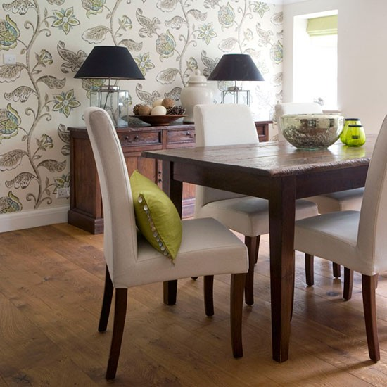 Dining Room Wall Paper: Big And Bold Floral Wallpaper