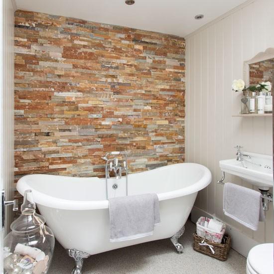 Badezimmer Steinwand