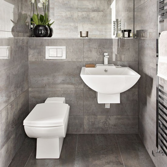 Bathroom Suite Ideas: A Grey Bathroom With A Floating Suite