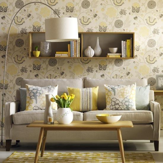 Sunny Yellow Retro-style Living Room