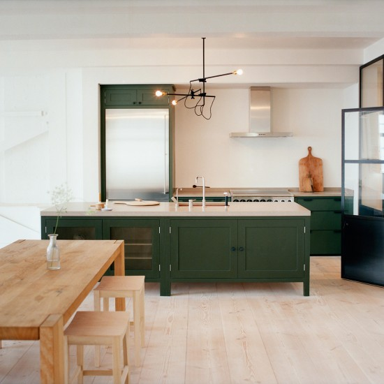 Green Painted Kitchen Galley: Room Ideas And Product Ideas