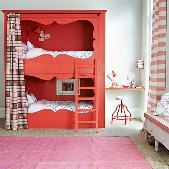 Red Cabin Style Bunkbeds Children S Rooms Weird And