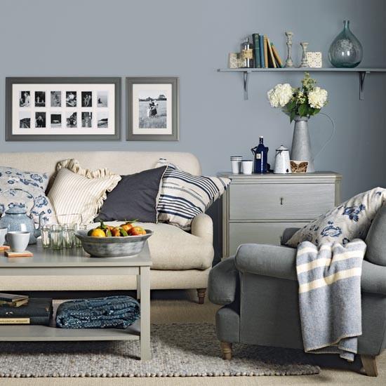 Blue And Cream Living Room – Jerusalem House