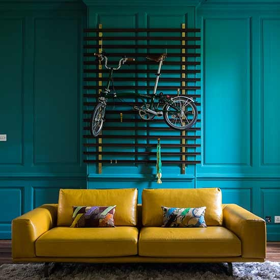 Yellow And Green Kids Room Ideas: Teal And Mustard Living Room