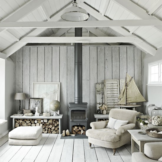 White Living Room With Natural Materials