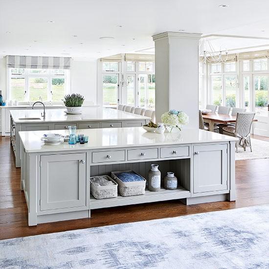 Wood Open Plan Kitchen Desings: Double Delight Open-plan Kitchen