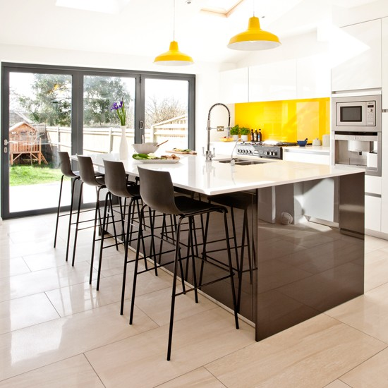 High Gloss Kitchen Island: Kitchen Island Ideas