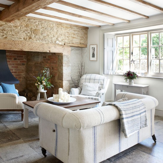 Modern Country Style Belgian Style And Modern Country: Modern Country Style: Blue And White Colour Scheme