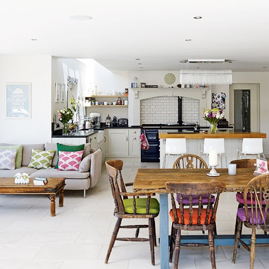 Open Kitchen Layouts: Open-plan Family Kitchen-diner