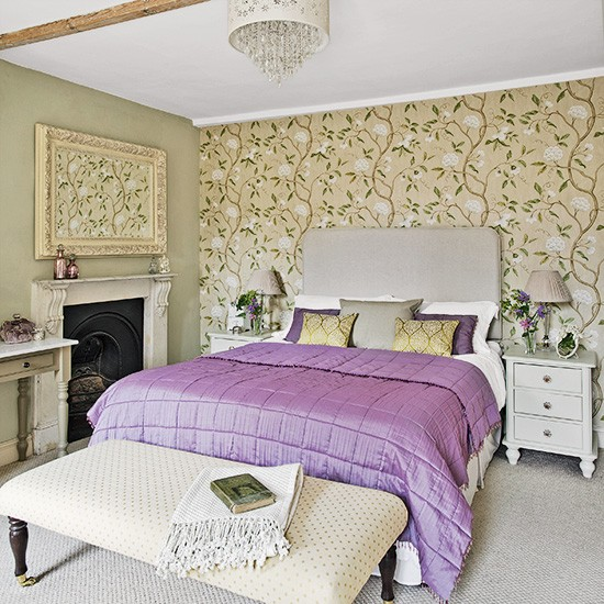 Housetohome Co Uk: Country Bedroom With Purple Bed Linen