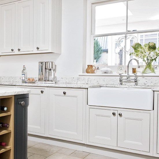 Kitchen Cupboards Uk Only: White Kitchen With Shaker Cabinets