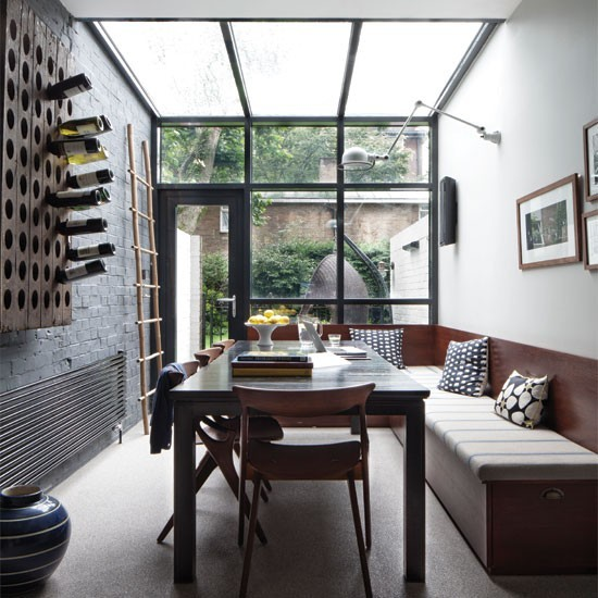 Modern Industrial Dining Room: Industrial-style Dining Room Conservatory